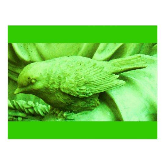Lime Statuary Bird Postcard