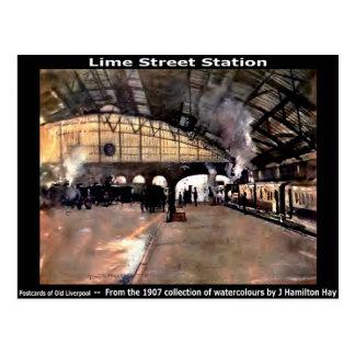 Lime Street Station, Liverpool. Postcard