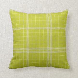 Lime Striae Pillows