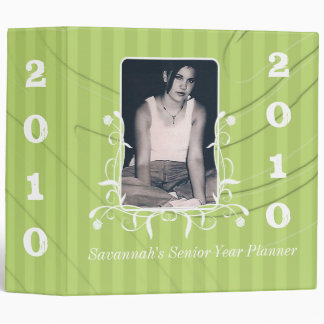 Lime Striped Senior Year Planner Your Senior Photo 3 Ring Binder