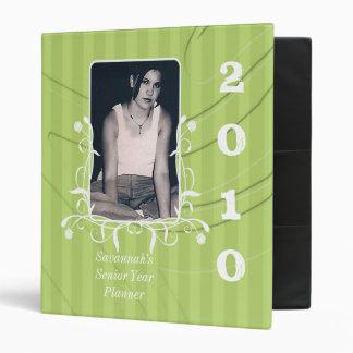 Lime Striped Senior Year Planner Your Senior Photo 3 Ring Binder