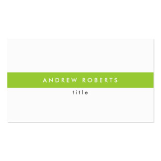 Lime Stylish Modern White Clean Business Card