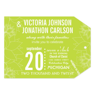 Lime Succulent ModernTypography Wedding Personalized Invite