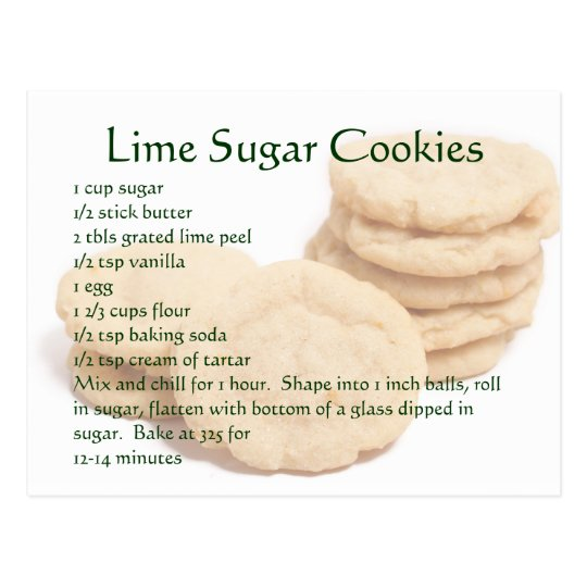 Lime Sugar Cookies Postcard