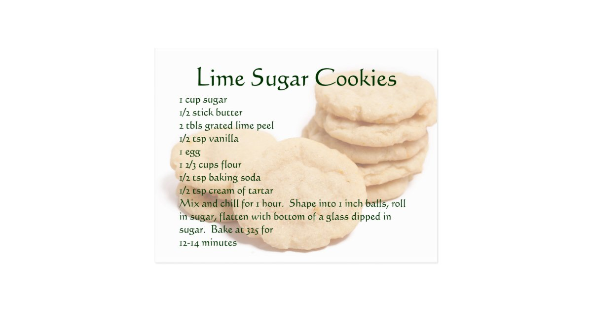 Lime Sugar Cookies Postcard | Zazzle