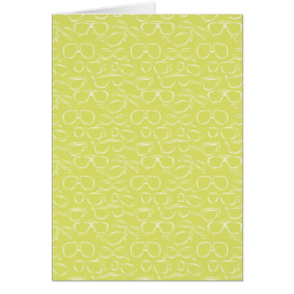 Lime Sunglasses Pattern Card