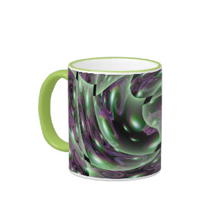 Lime Swirl Ringer Mug