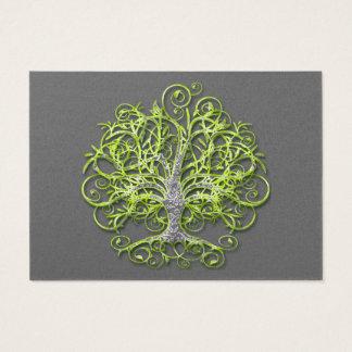 Lime Swirled Love Tree RSVP Business Card