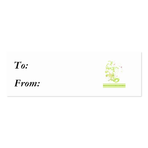 lime swirly bird vector Double-Sided mini business cards (Pack of 20)