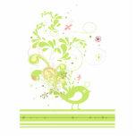lime swirly bird vector photo cutouts
