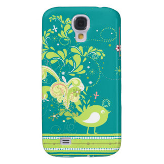 lime swirly bird vector samsung galaxy s4 case