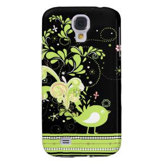lime swirly bird vector samsung galaxy s4 cover
