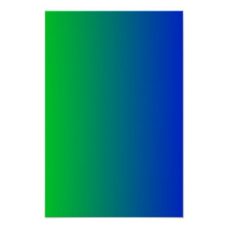 Lime to Blue Gradient Poster