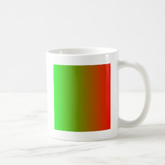 Lime to Candy Apple Red Vertical Gradient Coffee Mug