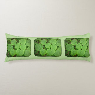 Lime tree leaves body pillow