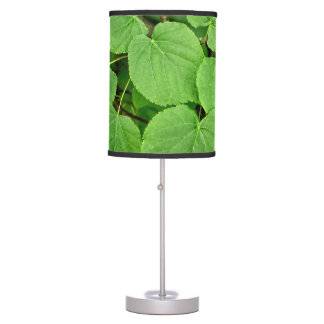 Lime tree leaves desk lamp