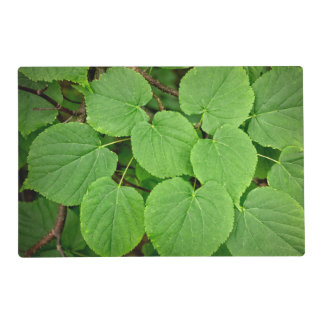 Lime tree leaves placemat