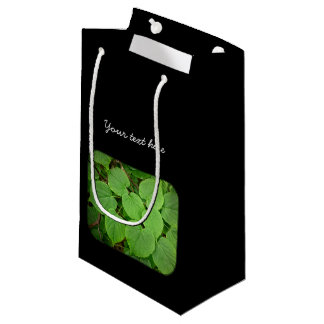 Lime tree leaves small gift bag