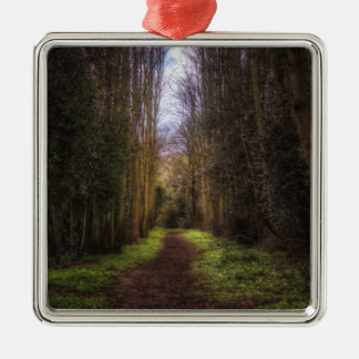 Lime Tree Path Metal Ornament