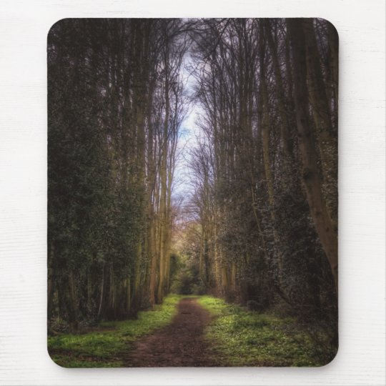 Lime Tree Path Mouse Pad