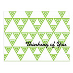 Lime Triangle Pattern Postcard