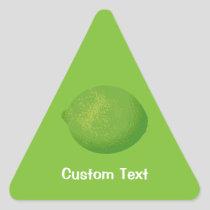 Lime Triangle Sticker