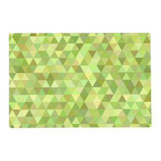 Lime triangles placemat