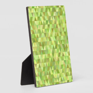 Lime triangles plaque