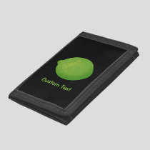 Lime Trifold Wallet