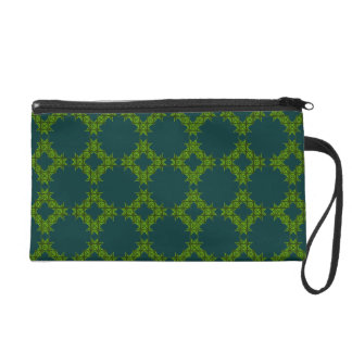 Lime Turquoise Bagettes Wristlet Bag