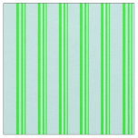 [ Thumbnail: Lime & Turquoise Colored Lines/Stripes Pattern Fabric ]