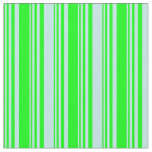 [ Thumbnail: Lime & Turquoise Colored Pattern of Stripes Fabric ]