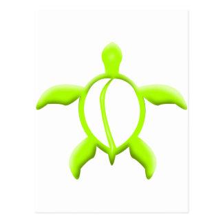 lime turtle postcard