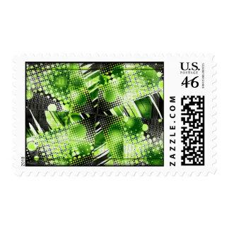 Lime Twist Postage Stamp