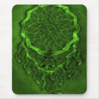 'Lime Wave' Mouse Pad