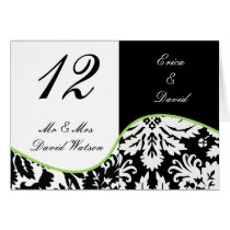 lime  Wedding Place Cards