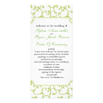 lime Wedding program