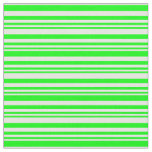 [ Thumbnail: Lime & White Colored Lined/Striped Pattern Fabric ]
