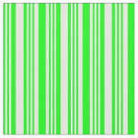 [ Thumbnail: Lime & White Colored Lines Fabric ]
