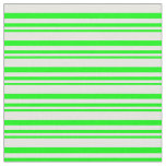 [ Thumbnail: Lime & White Colored Lines Pattern Fabric ]
