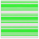 [ Thumbnail: Lime & White Lines Fabric ]