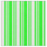 [ Thumbnail: Lime & White Lines/Stripes Pattern Fabric ]