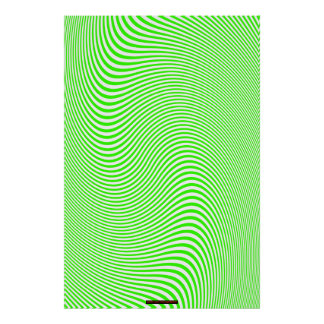 Lime & White Op Art Optical Illusion Wall Poster