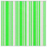 [ Thumbnail: Lime & White Pattern Fabric ]