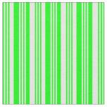 [ Thumbnail: Lime & White Pattern of Stripes Fabric ]
