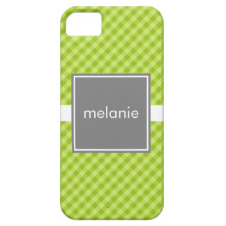 Lime with Green Gingham iPhone 5 Case