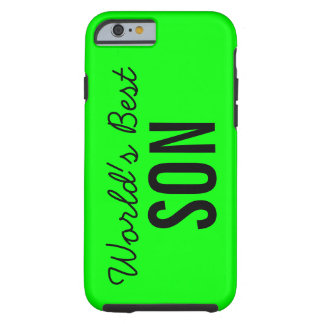Lime World's Best Son Custom iPhone 6 Case