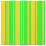 [ Thumbnail: Lime & Yellow Colored Striped/Lined Pattern Fabric ]