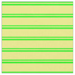 [ Thumbnail: Lime & Yellow Colored Stripes Fabric ]