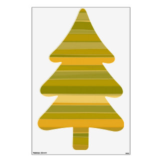 Lime Yellow Fir tree Pine tree Wall Stickers